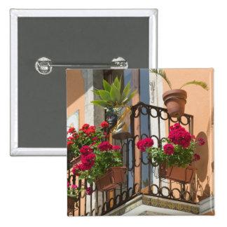 ITALIA, Sicilia, TAORMINA: Corso Umberto 1, Pin Cuadrada 5 Cm