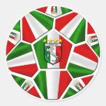 Italia soccer ball Italian flag of Italy panels Stickers