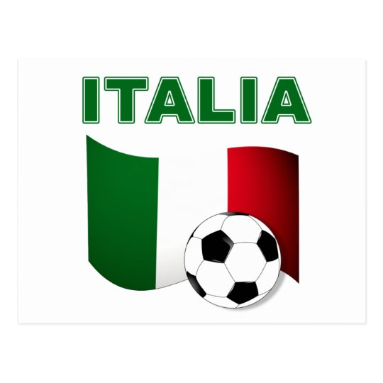 italia soccer football world cup 2010 postcard