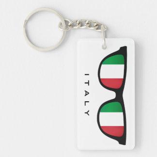 Italia sombrea el llavero de encargo del texto y