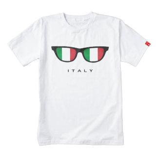 Italia sombrea la camiseta de encargo playera zazzle HEART