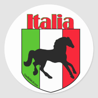 Italia Stallion Crest Classic Round Sticker
