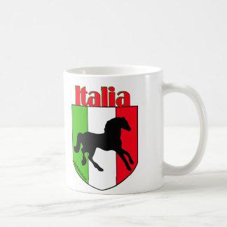 Italia Stallion Crest Classic White Coffee Mug