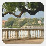 Italia, Stresa, lago Maggiore, Isola Bella Calcomanías Cuadradass Personalizadas