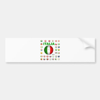 Italia T-Shirt d7 Car Bumper Sticker