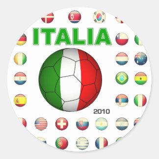 Italia T-Shirt d7 Classic Round Sticker