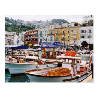 Italia,    término del barco, Capri Tarjeta Postal