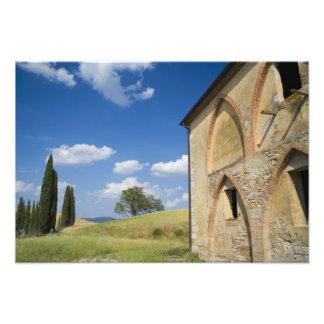 Italia, Toscana, chalet toscano en primavera Cojinete