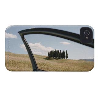 Italia, Toscana, d'Orcia de Val, árboles de Case-Mate iPhone 4 Cobertura