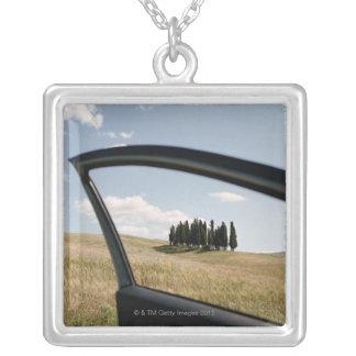 Italia, Toscana, d'Orcia de Val, árboles de Colgante Cuadrado
