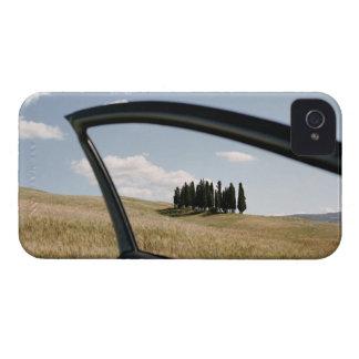 Italia, Toscana, d'Orcia de Val, árboles de iPhone 4 Cárcasa