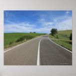 Italia, Toscana, d'Orcia de Val, camino Poster