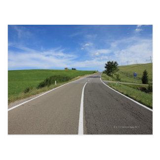 Italia, Toscana, d'Orcia de Val, camino Postal
