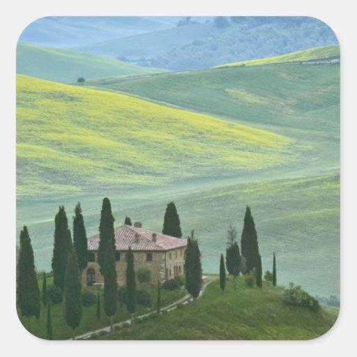 Italia, Toscana. El el belvedere o hermoso Pegatinas Cuadradases
