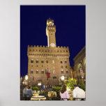 Italia, Toscana, Florencia. Cena de la noche Poster