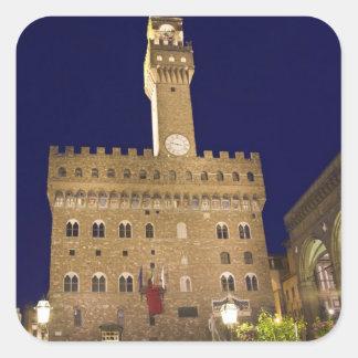 Italia, Toscana, Florencia. Cena de la noche Pegatina Cuadrada