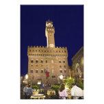 Italia, Toscana, Florencia. Cena de la noche Impresión Fotográfica