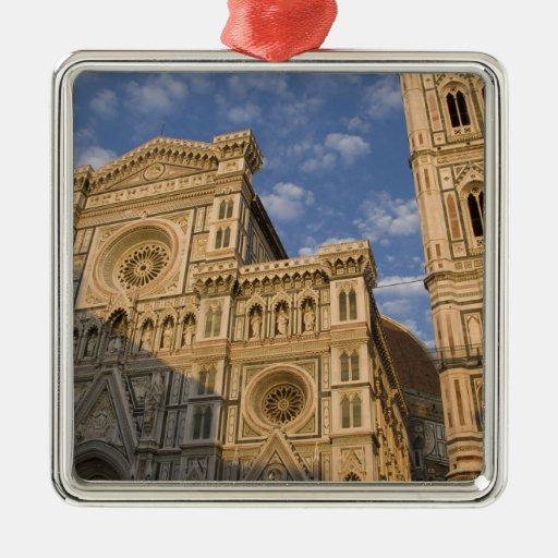 Italia, Toscana, Florencia. El Duomo. Adorno Navideño Cuadrado De Metal