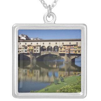 Italia, Toscana, Florencia, el Ponte Vecchio 2 Colgante Cuadrado