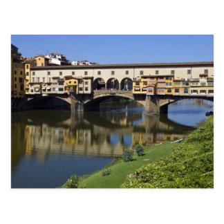 Italia, Toscana, Florencia, el Ponte Vecchio 2 Tarjetas Postales