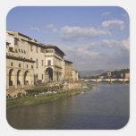 Italia, Toscana, Florencia. Vista diurna del Pegatina Cuadrada