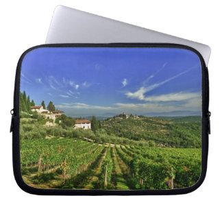 Italia, Toscana, Huelga. Los viñedos de Castello Fundas Portátiles