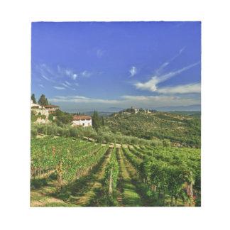 Italia, Toscana, Huelga. Los viñedos de Castello Libretas Para Notas