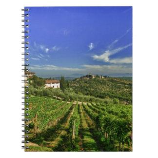 Italia, Toscana, Huelga. Los viñedos de Castello Libro De Apuntes