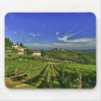 Italia, Toscana, Huelga. Los viñedos de Castello Mouse Pad