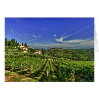Italia, Toscana, Huelga. Los viñedos de Castello Tarjeta De Felicitación