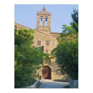 Italia, Toscana, La Foce, iglesia pintoresca adent Postal