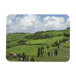 Italia, Toscana. La Foce. Un camino curvado enroll Imanes De Vinilo