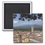 Italia, Toscana, Lucca, vista de la ciudad y 4 Imán De Nevera