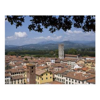 Italia, Toscana, Lucca, vista de la ciudad y 4 Postal