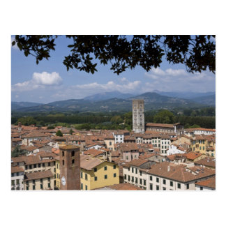 Italia, Toscana, Lucca, vista de la ciudad y 4 Tarjetas Postales