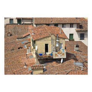 Italia, Toscana, Lucca, vista de la ciudad y Fotografía