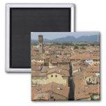 Italia, Toscana, Lucca, vista de la ciudad y Imanes De Nevera