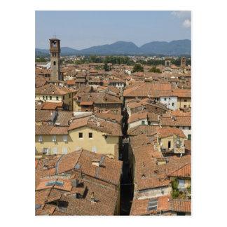 Italia, Toscana, Lucca, vista de la ciudad y Postales