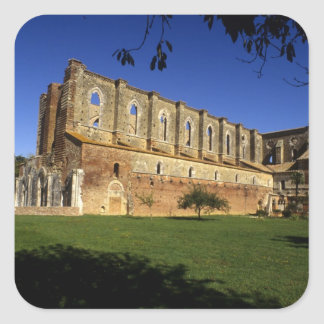 Italia: Toscana, Massa Marittima, San Galgano Pegatina Cuadradas
