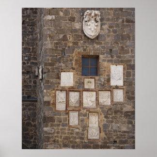 Italia. Toscana. Montalcino 3 Poster