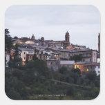 Italia, Toscana, Montalcino Pegatina Cuadrada