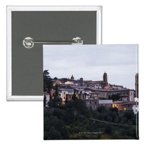 Italia, Toscana, Montalcino Pin Cuadrado