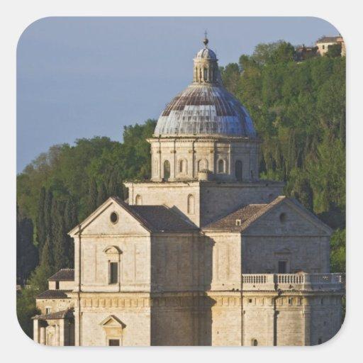 Italia, Toscana, Montepulciano. Iglesia de San Pegatinas Cuadradas Personalizadas