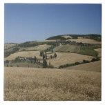 Italia. Toscana. Montichiello Azulejo Cuadrado Grande