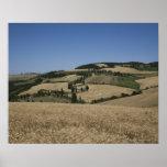Italia. Toscana. Montichiello Póster