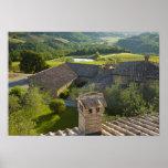 Italia, Toscana. Opinión de Roofop del chalet Poster