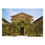 Italia, Toscana, rosa viejo cubrió la iglesia aden Foto