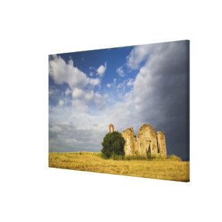 Italia, Toscana, ruina de la iglesia vieja en Tosc Impresiones En Lona Estiradas