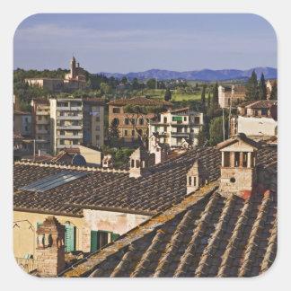 Italia, Toscana, Siena. Opinión del tejado de la c Calcomanías Cuadradases