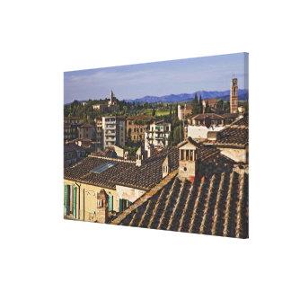 Italia, Toscana, Siena. Opinión del tejado de la Impresión En Lienzo